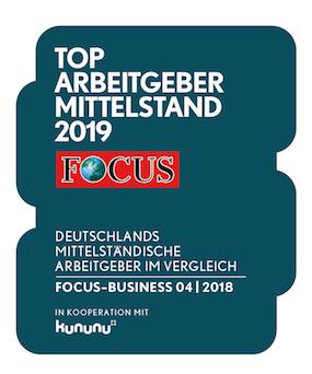 Award: Focus Top Arbeitgeber Mittelstand